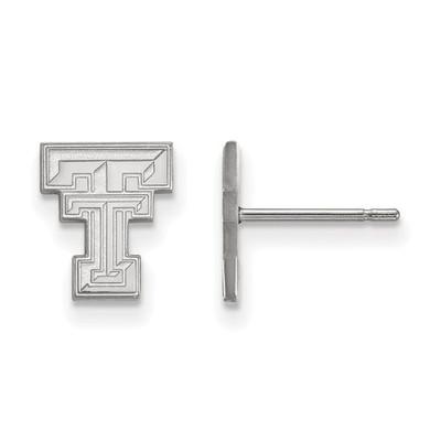 Texas Tech Red Raiders Sterling Silver Post Earrings   Logo Art   SS008TXT