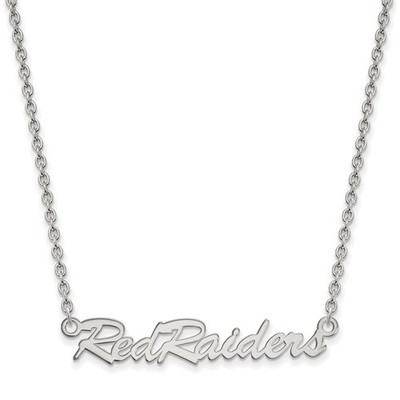 Texas Tech Red Raiders Sterling Silver Necklace | Logo Art | SS074TXT-18