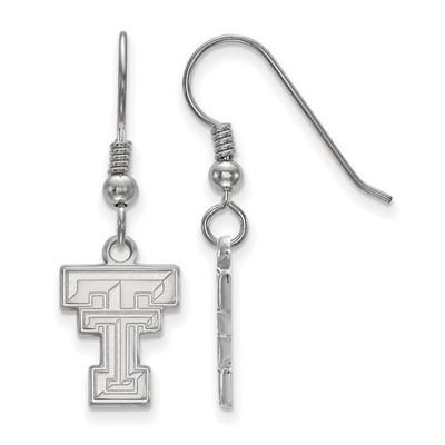 Texas Tech Red Raiders Silver Dangle Earrings   Logo Art   SS007TXT