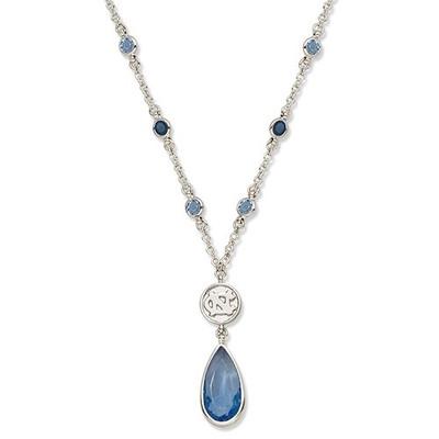 UNC Tar Heels Crystal Logo Necklace  | Logo Art | UNC067N-CR