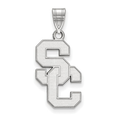 USC Trojans Sterling Silver SC Pendant | Logo Art | SS018USC