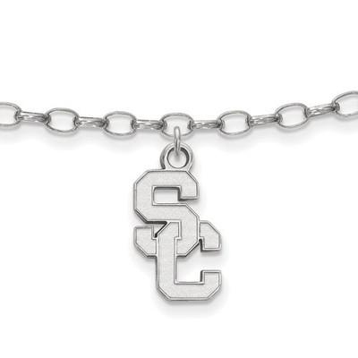 USC Trojans Sterling Silver Ankle Bracelet | Logo Art | SS017USC