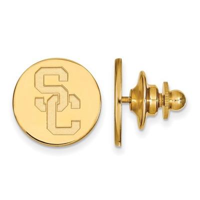 USC Trojans Crest 14K Gold Lapel Pin | Logo Art | 4Y010USC