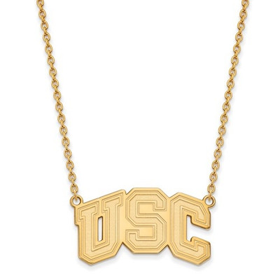 USC Trojans 14K Gold Necklace | Logo Art | 4Y032USC-18