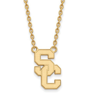 USC Trojans 14K Gold A Pendant Necklace | Logo Art | 4Y015USC-18