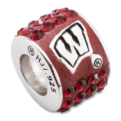Wisconsin Badgers Logo Sterling Silver Bracelet Bead Charm | Logo Art | UWI070CHM-SS