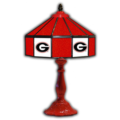 Georgia Bulldogs 21 in Glass Table Lamp   IPI359-3008