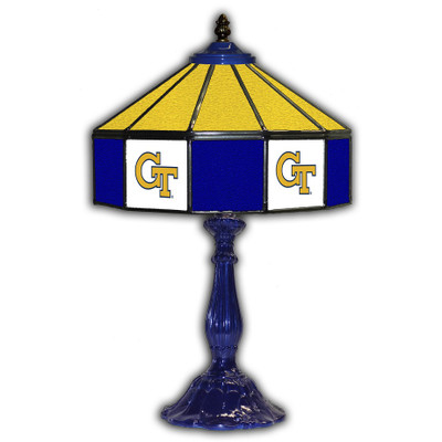Georgia Tech Yellow Jackets 21 in Glass Table Lamp | IPI359-3004