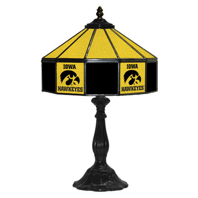 Iowa Hawkeyes 21 in Glass Table Lamp | IPI359-3018