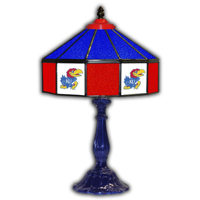 Kansas Jayhawks 21 in Glass Table Lamp | IPI359-3020