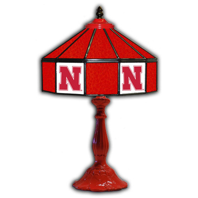 Nebraska Huskers 21 in Glass Table Lamp | IPI359-3010