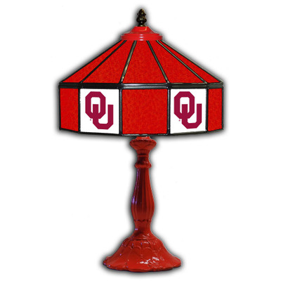 Oklahoma Sooners 21 in Glass Table Lamp | IPI359-3007