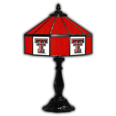 Texas Tech Red Raiders 21 in Glass Table Lamp | IPI359-3034