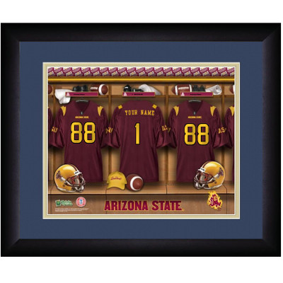 Arizona State Sun Devils Personalized Locker Room Print | Get Letter Art | ASULOCKER
