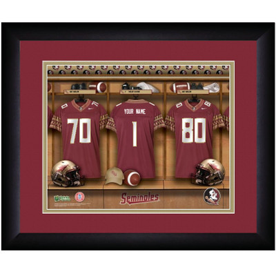 FSU Seminoles Personalized Locker Room Print | Get Letter Art | FSULOCKER