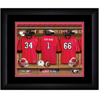 Georgia Bulldogs Personalized Locker Room Print | Get Letter Art | GALOCKER
