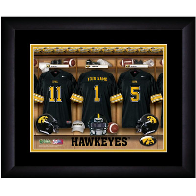 Iowa Hawkeyes Personalized Locker Room Print | Get Letter Art | IOWLOCKER