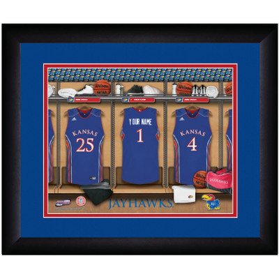 Kansas Jayhawks Personalized Locker Room Print | Get Letter Art | KANLOCKER