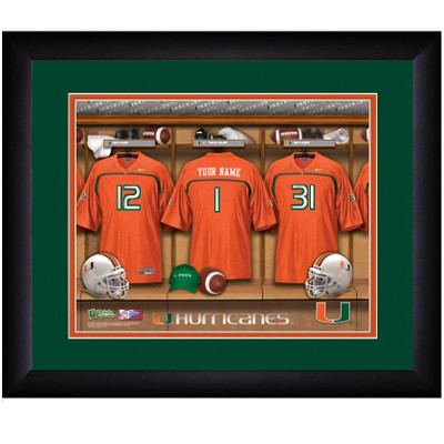 Miami Hurricanes Personalized Locker Room Print | Get Letter Art | MIALOCKER