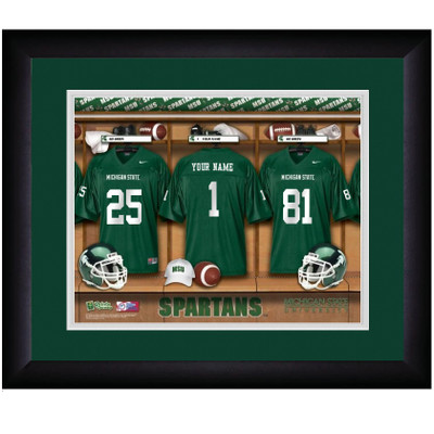 Michigan State Spartans Personalized Locker Room Print | Get Letter Art | MICHSTLOCKER