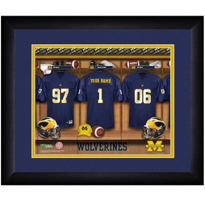 Michigan Wolverines Personalized Locker Room Print | Get Letter Art | MICHLOCKER