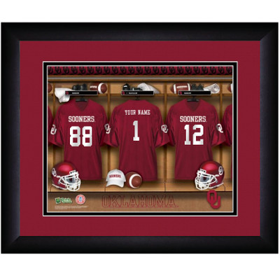 Oklahoma Sooners Personalized Locker Room Print | Get Letter Art | OKLALOCKER
