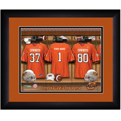 Oklahoma State Cowboys Personalized Locker Room Print  | Get Letter Art | OKSTLOCKER