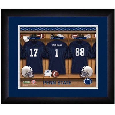 Penn State Nittany Lions Personalized Locker Room Print | Get Letter Art | PSTLOCKER