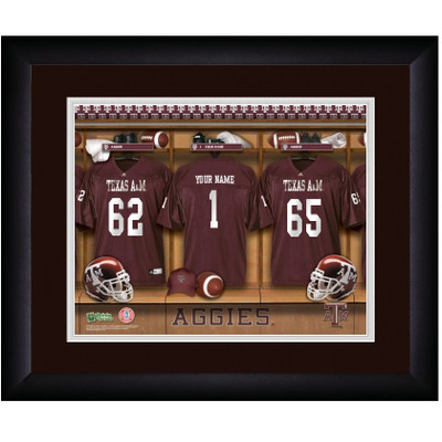Texas A&M Aggies Personalized Locker Room Print | Get Letter Art | TEXAMLOCKER