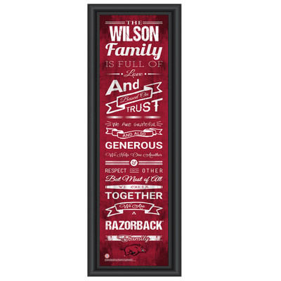 Arkansas Razorbacks Personalized Family Cheer Print | Get Letter Art | ARKFAM