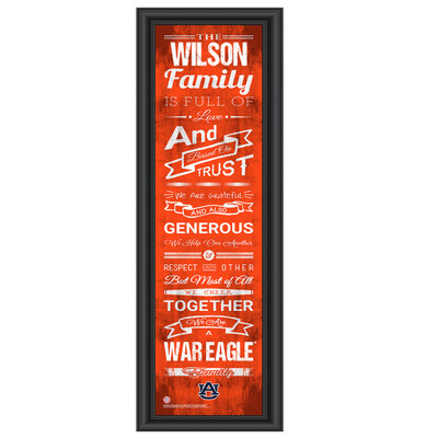Auburn Tigers Personalized Family Cheer Print | Get Letter Art | AUBFAM