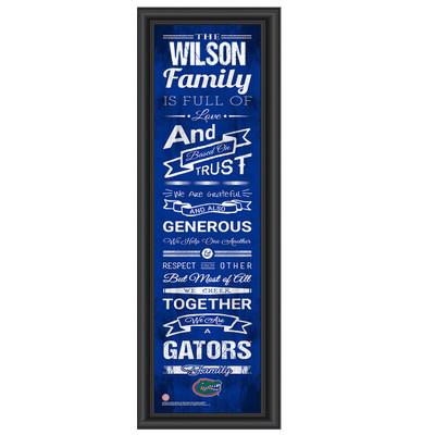 Florida Gators Personalized Family Cheer Print   Get Letter Art   FLFAM