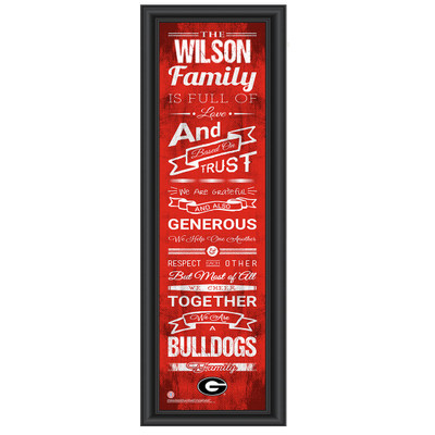Georgia Bulldogs Personalized Family Cheer Print | Get Letter Art | GAFAM