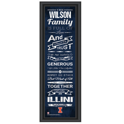 Illinois Fighting Illini Personalized Family Cheer Print | Get Letter Art | ILLFAM