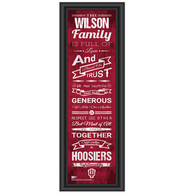 Indiana Hoosiers Personalized Family Cheer Print | Get Letter Art | INDFAM