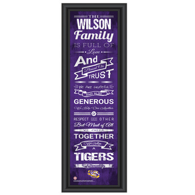 LSU Tigers Campus Personalized Family Cheer Print | Get Letter Art | LSUFAM