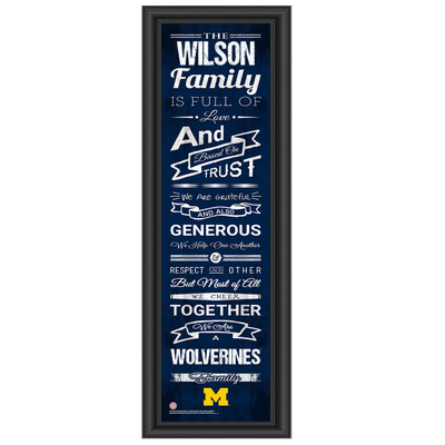 Michigan Wolverines Personalized Family Cheer Print | Get Letter Art | MICHFAM