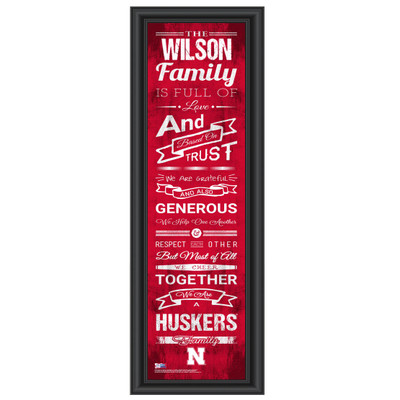 Nebraska Huskers Personalized Family Cheer Print | Get Letter Art | NEBFAM