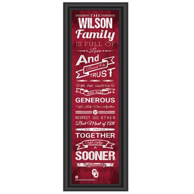 Oklahoma Sooners Personalized Family Cheer Print | Get Letter Art | OKLAFAM