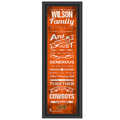 Oklahoma State Cowboys Personalized Family Cheer Print | Get Letter Art | OKSTFAM