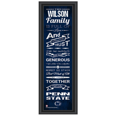 Penn State Nittany Lions Personalized Family Cheer Print | Get Letter Art | PSTFAM