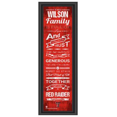 Texas Tech Red Raiders Personalized Family Cheer Print | Get Letter Art | TTREDFAM