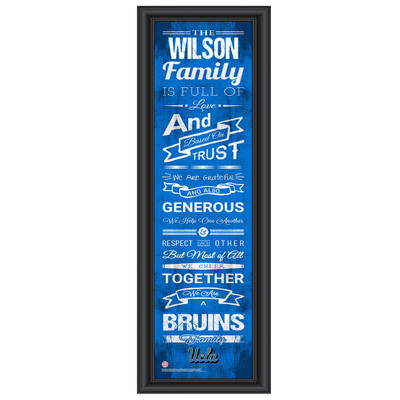 UCLA Bruins Personalized Family Cheer Print | Get Letter Art | UCLAFAM