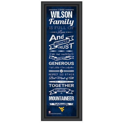 West Virginia Mountaineers Personalized Family Cheer Print | Get Letter Art | WTVAFAM