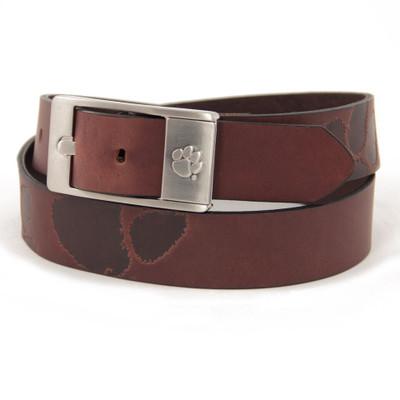 Clemson Tigers Brandish Brown Belt | Eagles Wings | 9208-