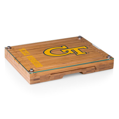 Georgia Tech Yellow Jackets Concerto Bamboo Cutting Board | Picnic Time | 919-00-505-194-0-2