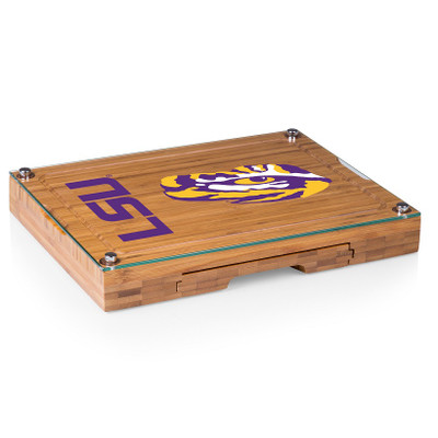 LSU Tigers Concerto Bamboo Cutting Board | Picnic Time | 919-00-505-294-0