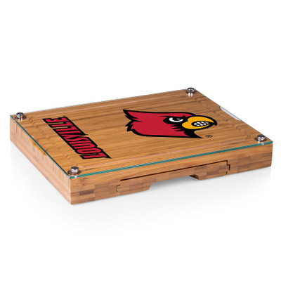 Louisville Cardinals Concerto Bamboo Cutting Board | Picnic Time | 919-00-505-304-0