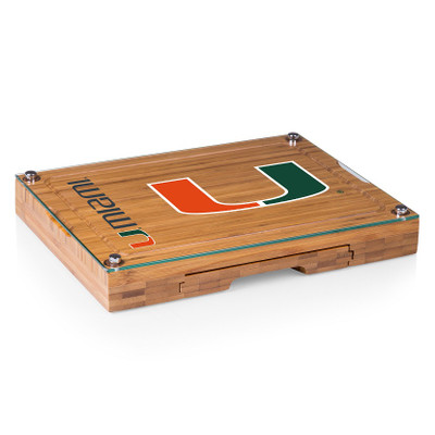 Miami Hurricanes Concerto Bamboo Cutting Board | Picnic Time | 854-00-505-323-0