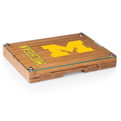 Michigan Wolverines Concerto Bamboo Cutting Board | Picnic Time | 919-00-505-344-0